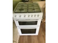 Almost new gas cooker plus stainless extractor fan only selling as we've a new frittered kitchen