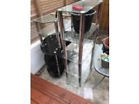 Free 5 Tier glass unit and small glass TV unit