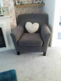 Grey chair fabric seat
