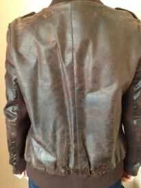 Real leather jacket like new size 8/10
