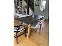 Hudson UK Oak and Concrete Resin 6 Seater Table