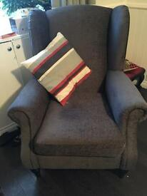 2 X SCHREIBER WING BACK CHAIRS