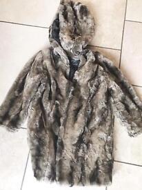 Luxury river island faux fur jacket new