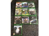Xbox one 500gb excellent condition 10 games.