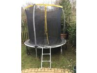 6ft trampoline. Total outside diameter 8ft. Buyer to dismantle and remove. FREE