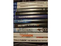 Various PS4 Games. Listed below