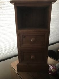 Pine bed side cabinet solid hand made (Not Shabby Chic)