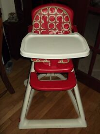 Highchair (Red and White)