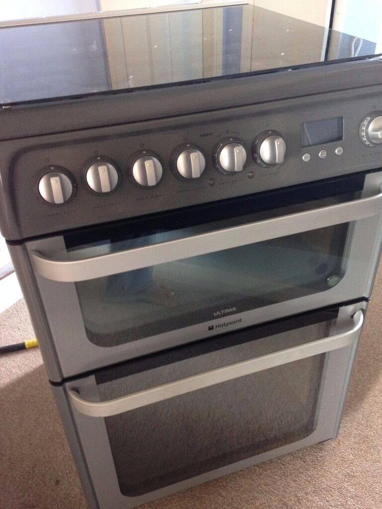 Hotpoint Hud61g Freestanding Cooker Double Oven Grill And