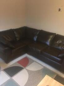 Next leather corner suite