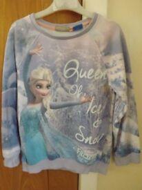 Girls Next Frozen Sweatshirt Age 8