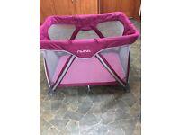 Pink Nuna travel cot
