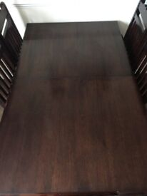 Moroccan style rosewood table with 6 chairs