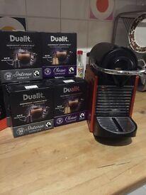 Krups espresso machine with 90 Dualit capsules (capsules alone worth £29)