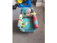 Mickey mouse chair anf play kitchen