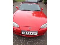 Mx5,53reg,Reduced price £2700 low mileage