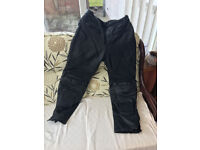 leather bike trousers size 38