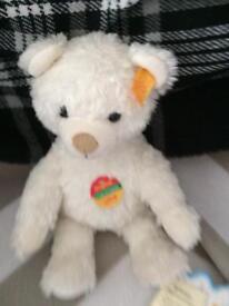 Steiff teddy bear with tags intact
