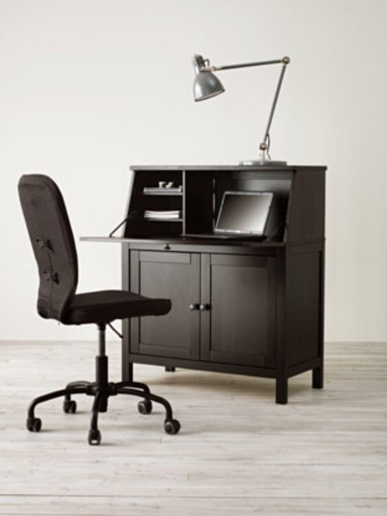 ikea hemnes bureau dresser laptop computer cabinet table grey brown in bognor regis west. Black Bedroom Furniture Sets. Home Design Ideas