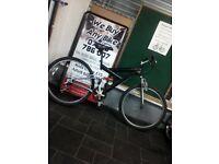 Good Condition Black&Chrome Apollo Dual Suspension Mountain Bike