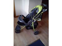 baby pram for sale, £30 only, large wheels, with free rain cover