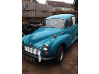 Morris miner 1959 blue 4 door