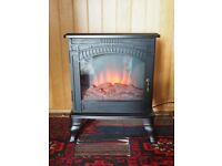 Brand new Amberglow coal effect electric stove