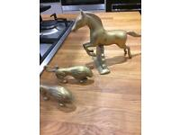Brass animal joblot