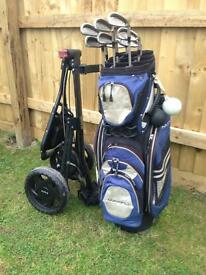 Full set of golf clubs +extras
