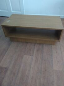 Beech TV stand. Small mark on top could be sanded out