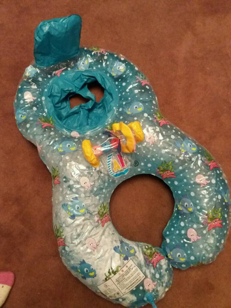 Inflatable swim ring for baby and adult