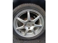"FORD KA 15"" Alloys + Tyres 195/45/15"