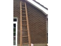 Ladders - wooden extendable