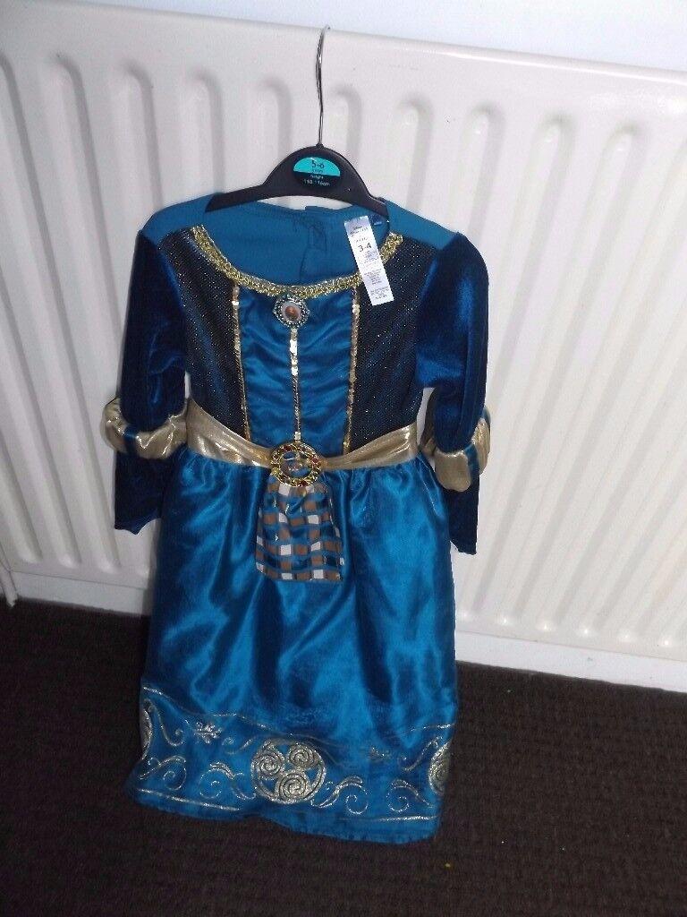 Disney - Brave Princess Merida - Halloween Fancy Dress Costume