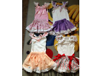 4 Bellas Babydoll HandMade Baby Girls Skirt/Vest Outfits 12-18 18-24 will post out