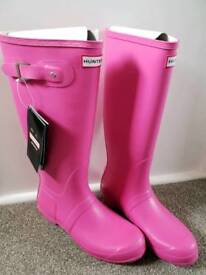 Pink hunter wellies size 9