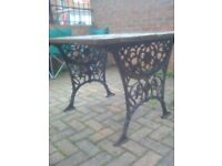 Garden table cast iron