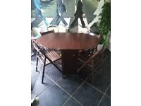 Space saving dining table and four chairs, excellent bargain £30