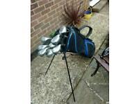 Slazenger training wood irons with carry bag