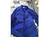 C.P company nylon overshirt blue. Size medium.
