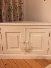Cream Wooden, Corner TV unit