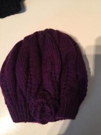 Handmade hats and triangle scarf