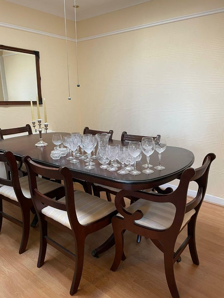 Dining room table and 9 chairs.   in East End, Glasgow   Gumtree