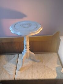 Table small side table vintage shabby chic upcycled solid wood grey