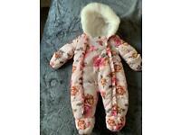 Baby girl snowsuit 0-3 months