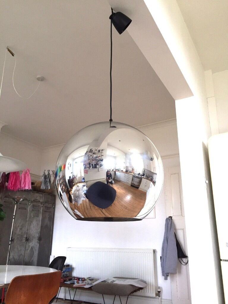 Large mirror ball pendant light tom dixon style in totterdown large mirror ball pendant light tom dixon style mozeypictures Choice Image