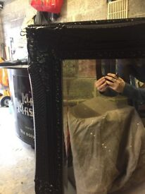 Large black mirrors