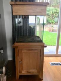 Oak cube aquarium