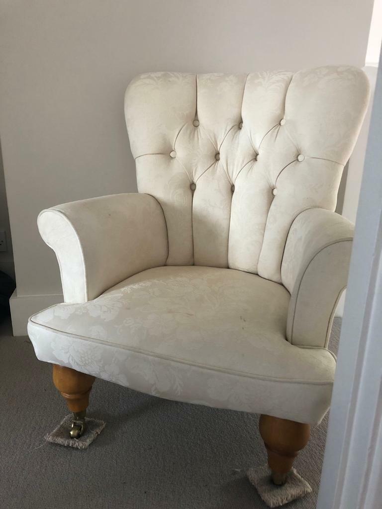 Cream upholstered armchair | in Harpenden, Hertfordshire ...