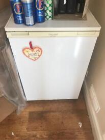 White under the counter fridge
